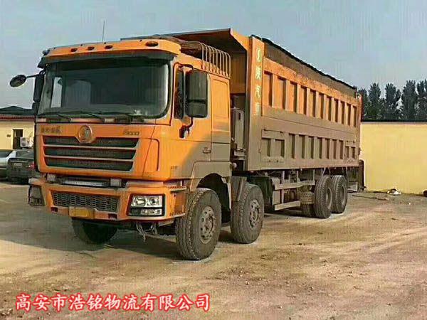 德龙八米五自卸车,国4排放375马力