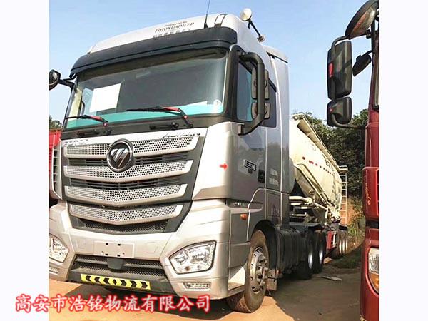 国五欧曼EST半挂水泥罐车、490马力。国五排放。465免后桥。