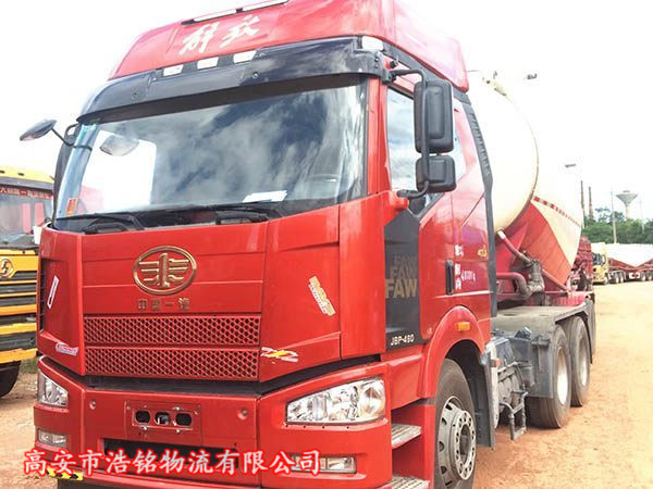 解放j6p牵引车水泥罐车、460马力。国五排放